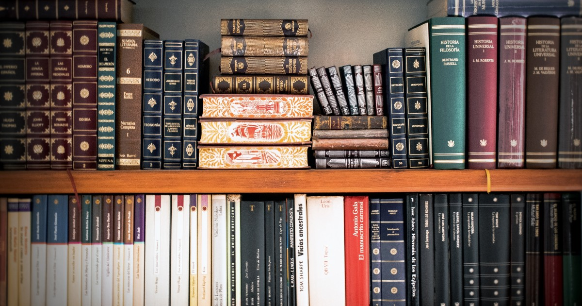 A shelf full of law books